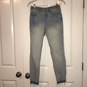 Mossimo High Rise Skinny Jeans with Ombré Ankle